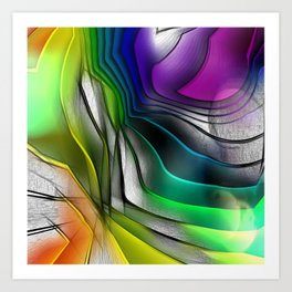COLOR COVERGECE ABSTRACT Art Print
