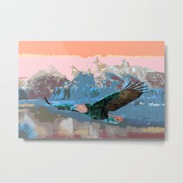 Triangle Eagle Metal Print