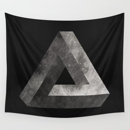 Penrose Triangle Moon Wall Tapestry