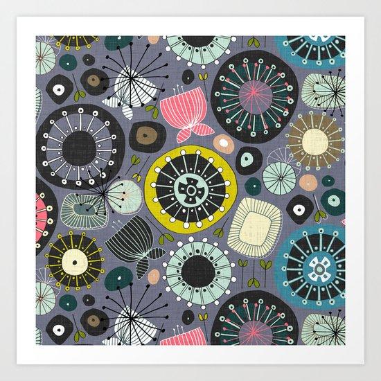 blooms amethyst Art Print