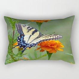 Yellow female Eastern Tiger Swallowtail  Rectangular Pillow