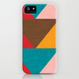 Kilim Chevron pink yellow iPhone Case