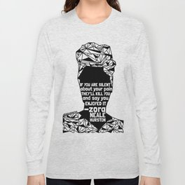 ZNH - If You Are Silent - Black Lives Matter - Series - Black Voices Long Sleeve T-shirt