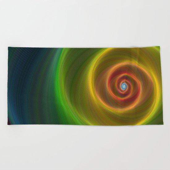 Space dream spiral Beach Towel