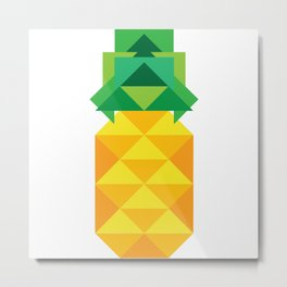 geometric pineapple Metal Print