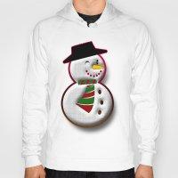 snowman Hoodies featuring Snowman by Gaspar Avila
