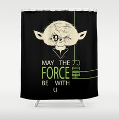 Starwars Yoda - May The Force Be With U Shower Curtain