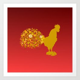 2017 Chinese Lunar New Year Of The Rooster Art Print