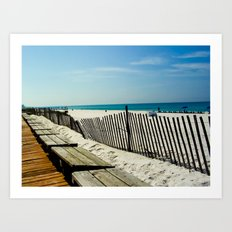 Rippling Fence Art Print