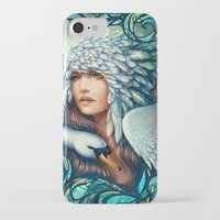 swan iPhone & iPod Cases featuring Swan by Bea González