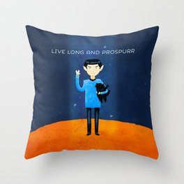Live Long And Prospurr Throw Pillow