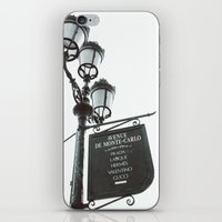 gucci iPhone & iPod Skins featuring Avenue De Monte Carlo by Le Arcara