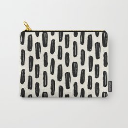 Ivory Vertical Dash Carry-All Pouch
