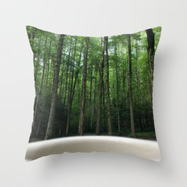 Breakfast View, Smoky Mountain Tennessee Throw Pillow