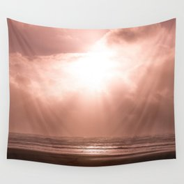 California Rose Sunset - Nature Photography Wall Tapestry