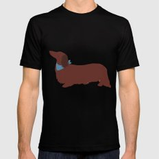 Long haired Dachshund MEDIUM Black Mens Fitted Tee