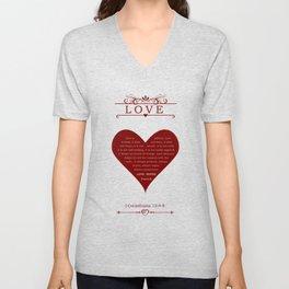 Love Never Fails Unisex V-Neck