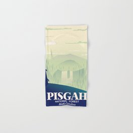 North Carolina Pisgah national park travel poster Hand & Bath Towel