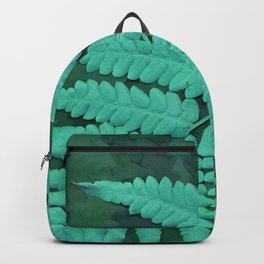 From the forest - turquoise on green Backpack