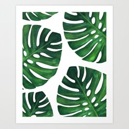 Watercolor Monstera print Kunstdrucke