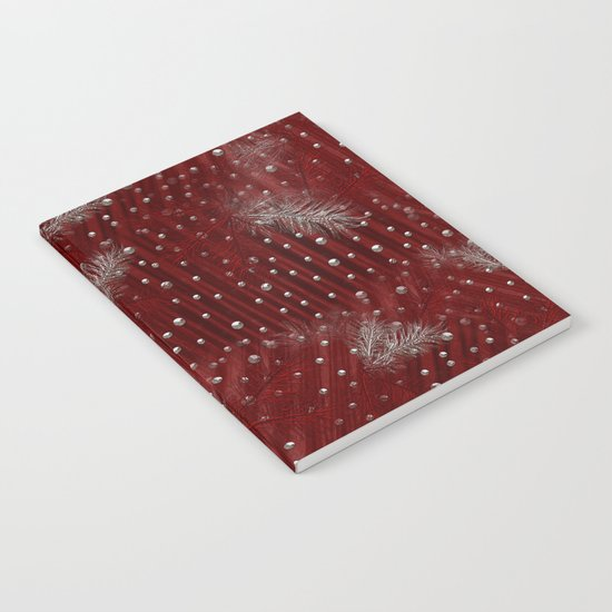 Silver Red Christmas Notebook
