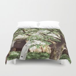 Ladder In An Orchard Duvet Cover
