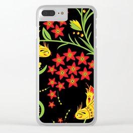 Fish khokhloma Clear iPhone Case