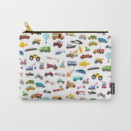 Little Boy Things That Move Vehicle Cars Pattern for Kids Carry-All Pouch