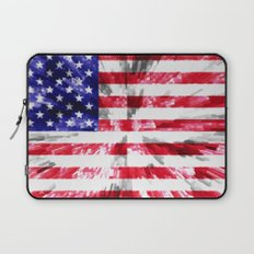 American Flag Extrude Laptop Sleeve