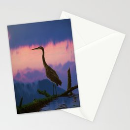 Blue Heron at Sunset Stationery Cards