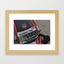 Racer cars Framed Art Print
