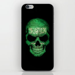 Dark Skull with Flag of Saudi Arabia iPhone Skin