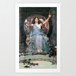 12,000pixel-500dpi John William Waterhouse - Circe Offering The Cup To Odysseus - Digital Remastered Art Print