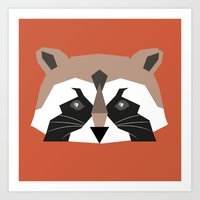 rocket racoon Art Prints featuring rocket racoon by Robert Parkinson