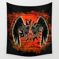 hunting Wall Tapestries featuring Saving People, Hunting Things by SuperSamWallace
