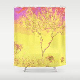 Arizona Electric Sky and Trees Shower Curtain