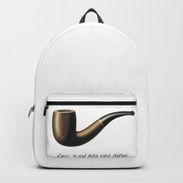 This Is Not A Pipe, Ceci n'est pas une pipe, Magritte Inspired T Shirt, Sketch, online T-shirt S Backpack