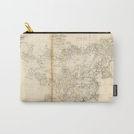 Map of China Chinese-Tartary & Tibet (1834) Carry-All Pouch