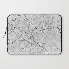 Birmingham, UK City Map with GPS Coordinates Laptop Sleeve