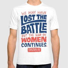 Lost the Battle Mens Fitted Tee White MEDIUM