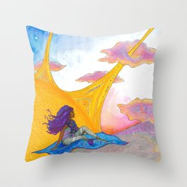 The Sun Begins to Shine Throw Pillow