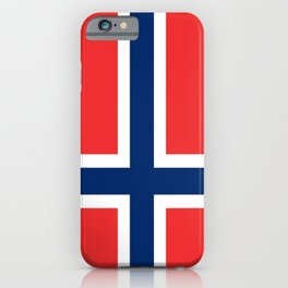 Flag of norway iPhone Case