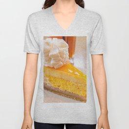 Cheesecake #food #dessert #sweets Unisex V-Neck