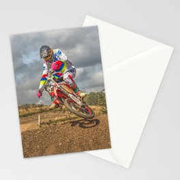 Motocross action sports Stationery Cards