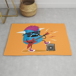 Monster punk rocks with his electric guitar Rug