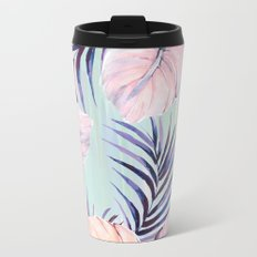 Pastel powder palms Metal Travel Mug