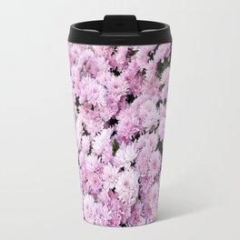 A Sea of Light Pink Chrysanthemums #2 #floral #art #Society6 Travel Mug