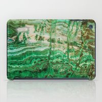 malachite iPad Cases featuring MINERAL BEAUTY - MALACHITE by Catspaws