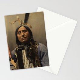 Left Hand Bear, Oglala Sioux chief Stationery Cards
