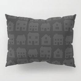 Little Scandi Houses in Dark Gray Pillow Sham